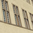 Windows in a row on the building — Stock Photo