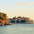 Sveti Stefan, small islet and resort in Montenegro — Stock Photo