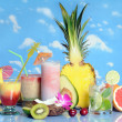 Fruits and drinks — Stock Photo #10865123