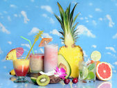 Fruits and drinks — Stock Photo
