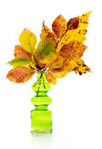 Vase with autumn bouquet — Stock Photo