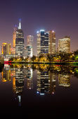 Perfect Reflection - Melbourne City Skyline — Stock Photo