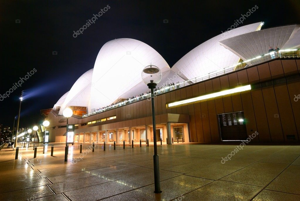 A fisheye view of Sydney Opera House At Night — Stock Photo #11090738
