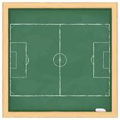 футбольное поле на доске — Cтоковый вектор