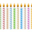 Royalty-Free Stock Vektorgrafik: Birthday Candles