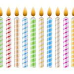 Geburtstagskerzen — Stockvektor