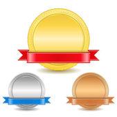 Madalya şeritleri ile — Stok Vektör