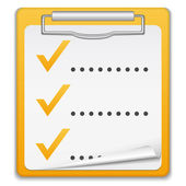 Clipboard with Checklist Icon — Stock Vector