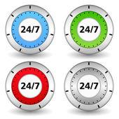 24x7 Concept — Stock Vector