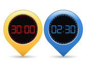 Digital Timers — Vector de stock