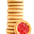 Cookies with jam — Stock Photo