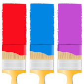 Paintbrushes — Stock Vector
