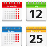 Calendar Icons — Stock Vector