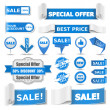 Blue Sale Banners — Stock Vector #11628468