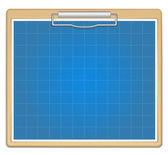 Clipboard with blueprint — Stock Vector