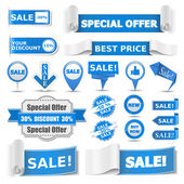 Blue Sale Banners — Stock Vector