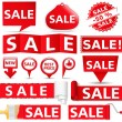 Stock Vector: Red Sale Banners