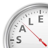 Tiempo de venta — Vector de stock