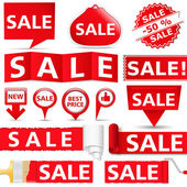 Red Sale Banners — Stock Vector