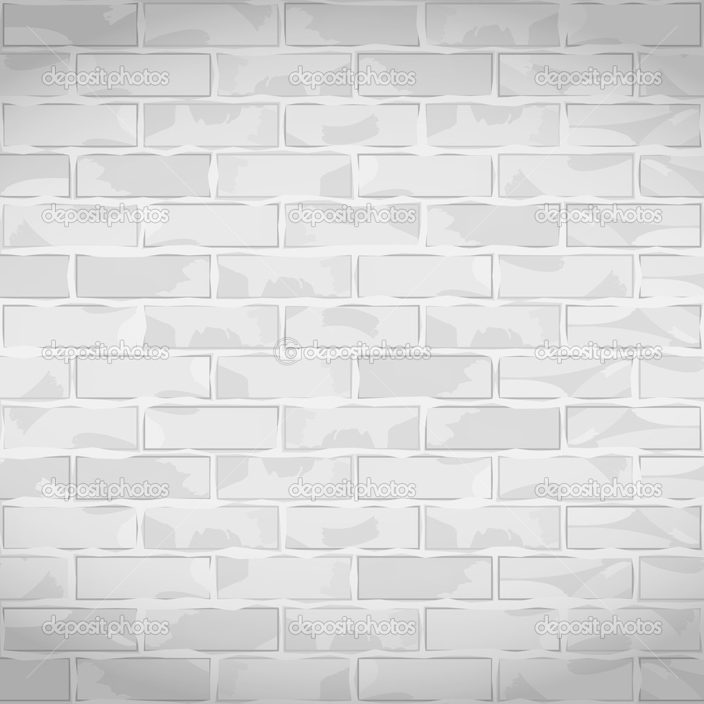 Vieja Pared De Ladrillo Blanco Vector De Stock Human