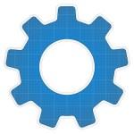 Blueprint Gear Icon — Stock Vector #11910519