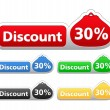 Discount Labels - Vettoriali Stock