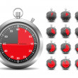 Red Timers — Stock Vector #11910563