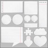 Papier objecten — Stockvector