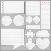 Objetos de papel — Vector de stock