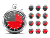 Red Timers — Stock Vector