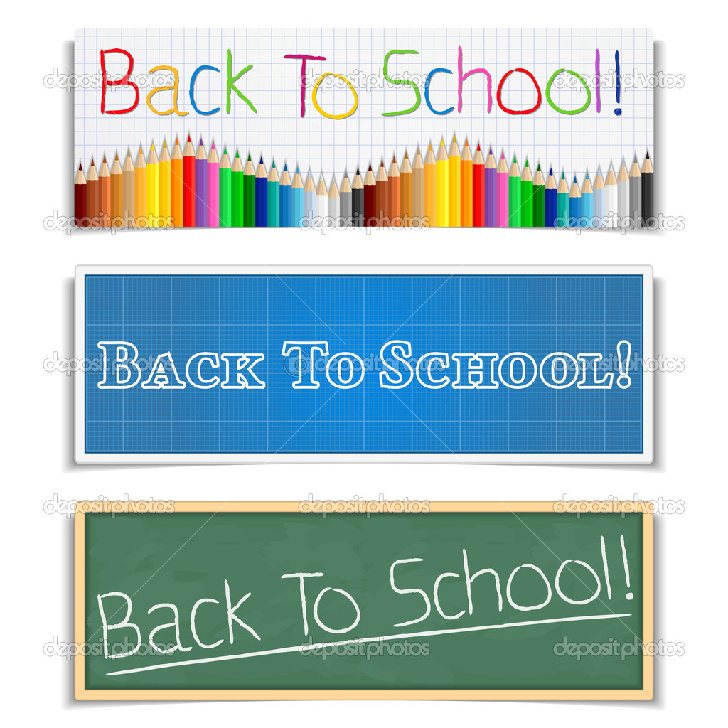 Back To School Banners, vector eps10 illustration  Stock Vector #11988663