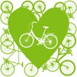Royalty-Free Stock Imagen vectorial: Vintage bicycle illustration love concept