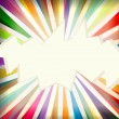 Royalty-Free Stock Vector Image: Colorful template with retro sun burst background
