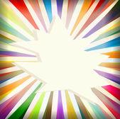 多彩模板与复古太阳爆裂背景 — 图库矢量图片