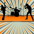 Stock Vector: Rock concert band burst background vector