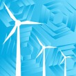 Clean energy concept with wind generators vector — Векторная иллюстрация