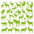 Deers collection silhouettes ecology vector — Stock Vector #11461846