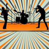 Rock konsert bandet burst bakgrund vektor — Stockvektor