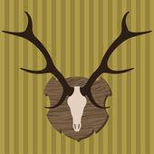Moose head horns hunting trophy illustration vector — Stock Vector