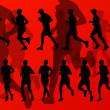 Royalty-Free Stock Vector Image: Marathon runners vector background