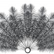 Royalty-Free Stock Imagen vectorial: Feathers fan vector on black background