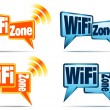 WiFi Zone Icons — Stock Vector