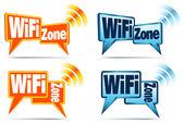 WiFi Zone Icons — Stock Vector