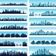 City skylines panoramic — Stock Vector