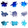 Blue paint splat — Stock Vector