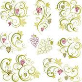 Grapevine motifs — Stock Vector