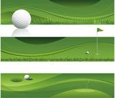 Sfondo astratto golf — Vettoriale Stock