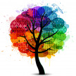Royalty-Free Stock Vector Image: Beautiful abstract color tree background