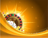 Gambling background with casino elements — Stock Vector