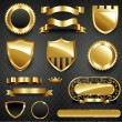 Decorative ornate gold frame collection — Stockfoto